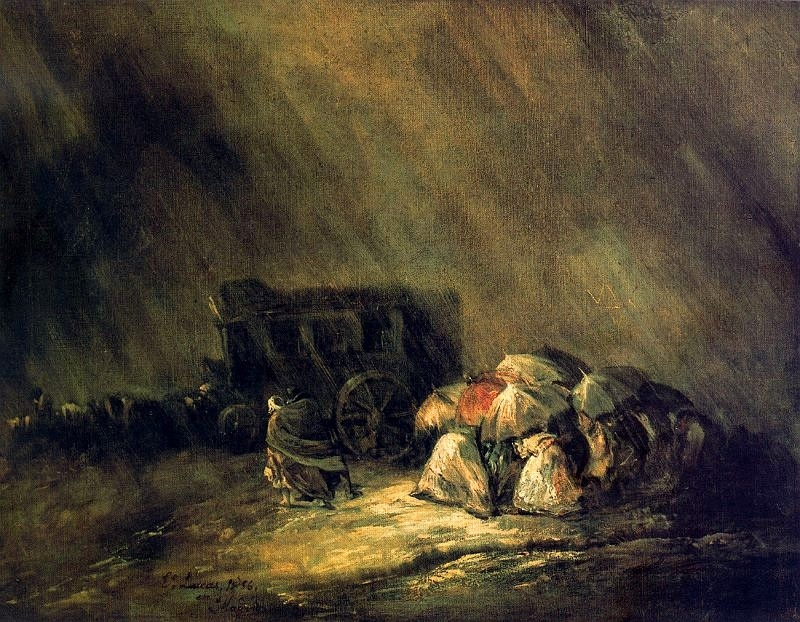 The stagecoach under the storm