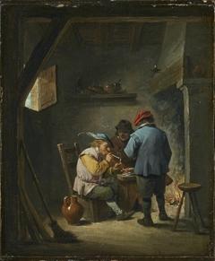 Three Smokers at a Hearth