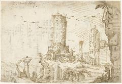 Torens tussen ruïnes, Rome