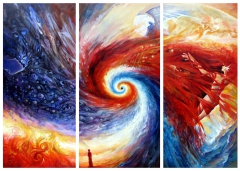 "triptych ""Caos, Energy and Harmony"""