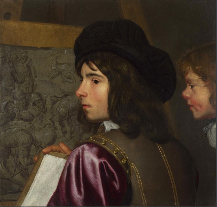 Two Boys before an Easel