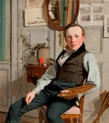 Portræt af landskabsmaleren Frederik Sødring