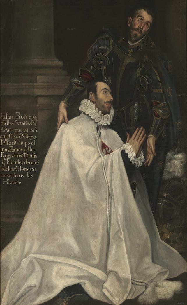 Julián Romero de las Azanas and his Patron Saint
