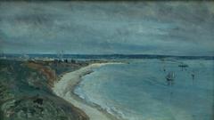 Le Havre. La mer vue du haut des falaises