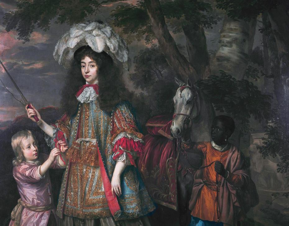 Portrait of Maria of Orange with Hendrik van Zuijlestein