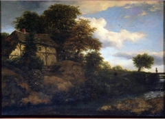 View of a Cottage on a Hill