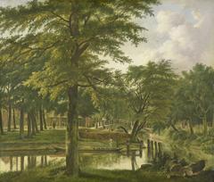 View of the Nieuwe Gracht near the Bolwerk, Haarlem