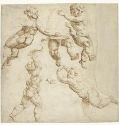 Vijf zwevende engelen