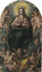 Virgen con ángeles