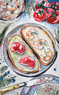 Watercolor food