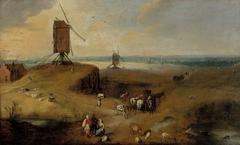 Windmill landscape in Flanders