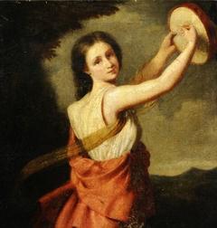 Young Woman as a Bacchante