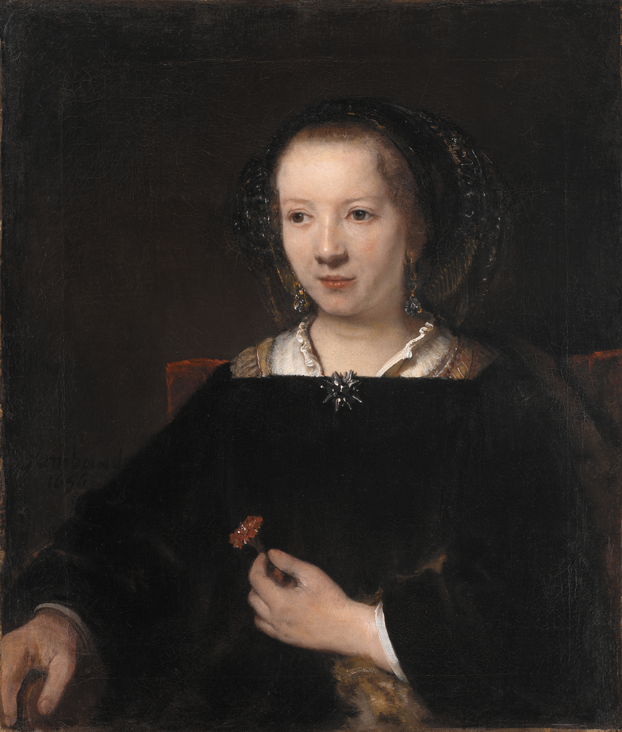 Young Woman with a Carnation