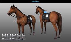 3D Horse Animal Character Animation Doha, Qatar