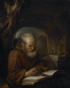 A Hermit Praying