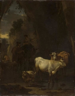 A Shepherd and a Shepherdess with Animals