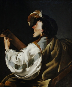 A Singer Accompaning Himself on the Lute