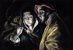 An Allegory with a Boy Lighting a Candle in the Company of an Ape and a Fool