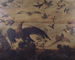 An Eagle with other Birds in a Landscape