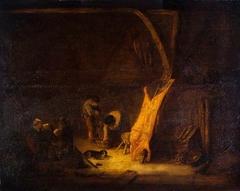 An Interior with a Pig's Carcass
