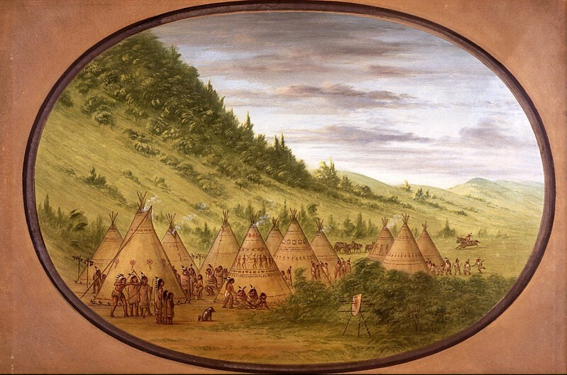 An Ojibbeway Village of Skin Tents