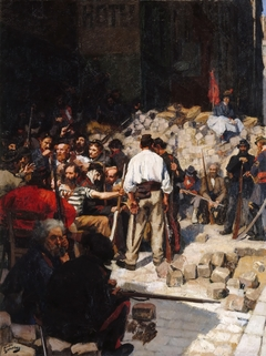 Barricade, the Paris Commune, May 1871