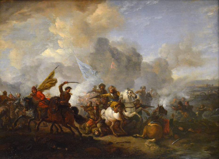 Big Battle of Horsemen and Infantrymen ca. 1650