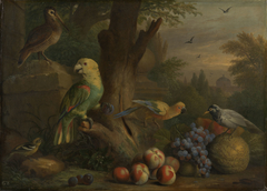 Birds and Fruit in a Landscape