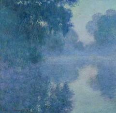 Bras de Seine près de Giverny, soleil levant