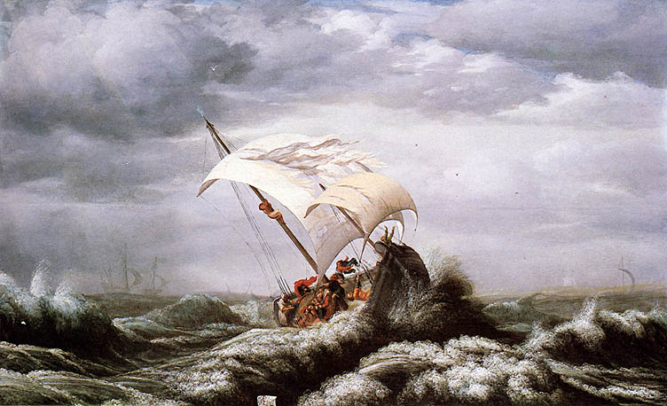 Calming the storm (Christ, sleeping during the storm)