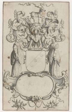 Cartouche met het wapen van de Earl of Buccleugh