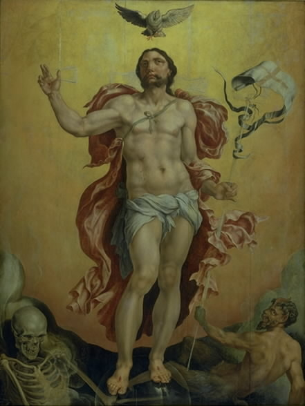 Christ victoring over Sin and Death