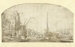 Christus predikend vanuit een boot