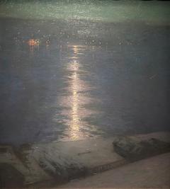 Clair de lune sur la rivière