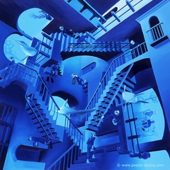 CLIMBING UP AND DOWN, Homage to M.C.Escher - by Pascal