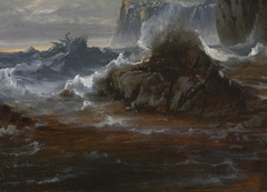 Coastal Cliffs in Stormy Weather
