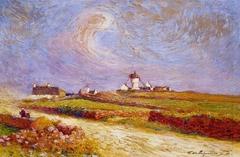 Countryside with Windmill, near Batz
