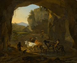 Cowherds in a Grotto