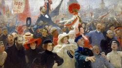 Demonstration on October 17, 1905
