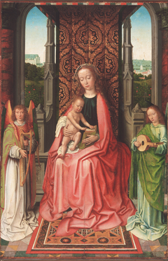 Enthroned Virgin and Child, with Angels
