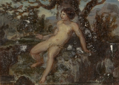 Figure Study of a Nude Woman in a Wooded Landscape