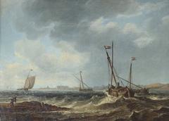 Fishing Boats on a Choppy Sea