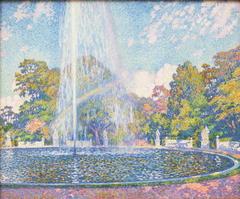 Fountain in the Park of Sanssouci Palace near Potsdam