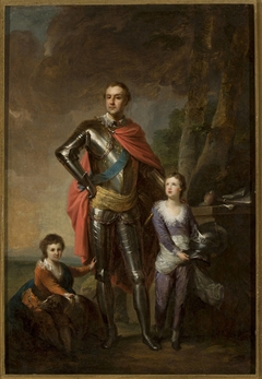 Franciszek Ksawery Branicki with his sons, Aleksander and Władysław
