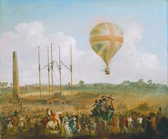 George Biggins Ascent in Lundardi's balloon