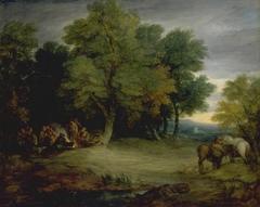 Gypsy Encampment, Sunset