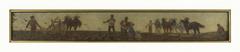 Histoire du blé : labours, semailles, hersage : Esquisse pour la salle de dessin de l'école de la rue Dombasle, 15ème arrondissement de Paris