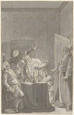 Illustratie voor het toneelstuk Het mislukt bedrog van F.W. Gotter