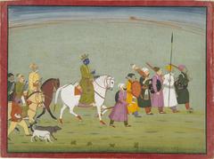 Illustration from a Bhagavata Purana Series, Book 10: Krishna Leads theTownspeople