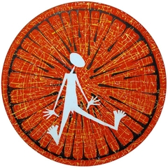 In the Circle. 2012. Canvas, acrylic. Diameter 100 cm